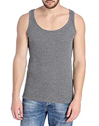 Jack & Jones Men's 95% Cotton 5% Elastan Vest (5712838652133_Grey_XX-Large)
