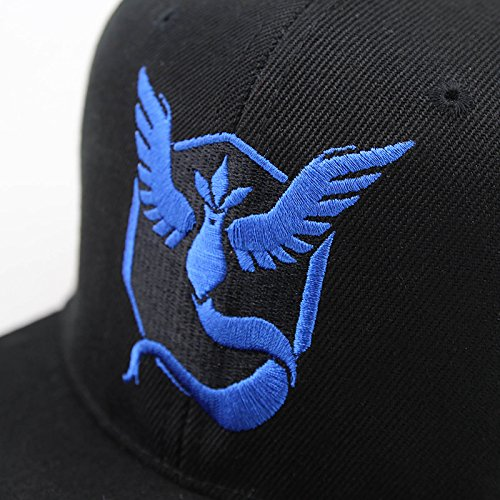 Jessecos-Pokemon-Go-Baseball-Black-Hat-Team-Mystic-InstInct-Valor-Embroidery-Cap-Blue