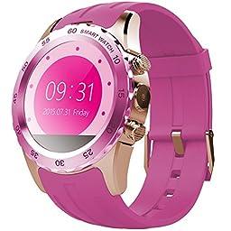 Sky®Sweatproof Smart Watch Phone SmartPhones(Pink)