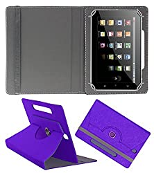 Acm Designer Rotating Case For Swipe Float X78 Stand Cover Purple