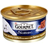Gourmet Solitaire with Duck Slowly Cooked in a Sauce with Garden Vegetables Wet Cat Food 85 g (Pack of 12)