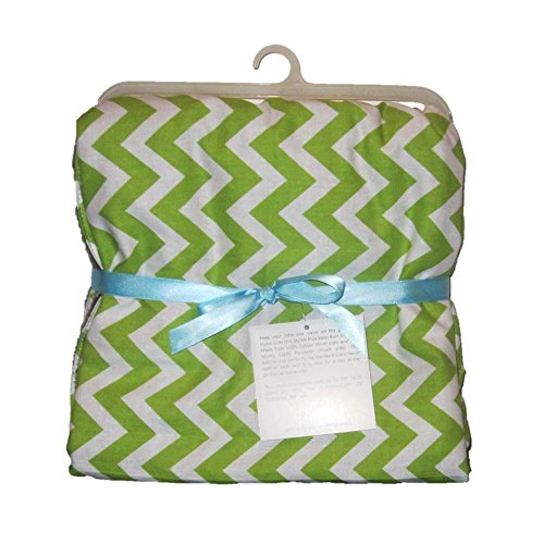 """Baby & Toddler Blanket Zig Zag (Toddler (Approx. 30"""" X 40""""), Green) front-440435"""