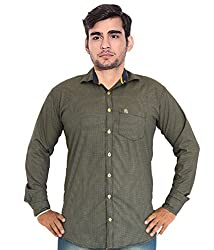 7 Buttons Men's Casual Shirt (s004_Brown_Small)