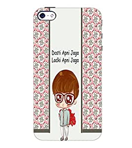 PrintDhaba Funny Quote D-5805 Back Case Cover for APPLE IPHONE 4S (Multi-Coloured)