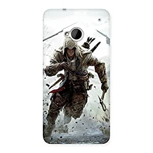 Enticing Assasi Multicolor Back Case Cover for HTC One M7