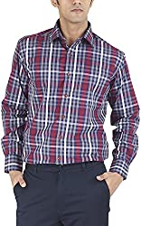Silkina Men's Regular Fit Shirt (VPOI1310F, 42)