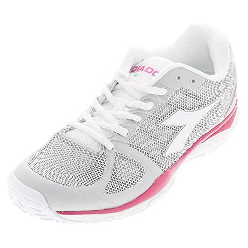 Diadora Women's Speed Competition II Tennis Shoes (White/Bright Rose) (7.5 B(M) US)