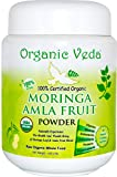 Organic MORINGA AMLA Fruit Powder - 1 Lb. ★ USDA Certified Organic ★ PREMIUM product with TWO BENEFITS. 100% Pure and Natural Raw Herb Super Food Supplement. Non GMO, Gluten FREE. All Natural!