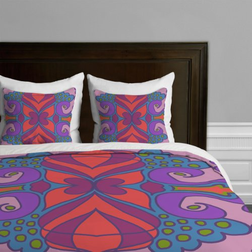 Coral Duvet Cover Queen front-1038685
