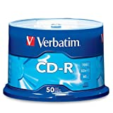 Verbatim 94691 700 MB 52x 80 Minute Branded Recordable Disc CD-R, 50-Disc Spindle