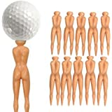 Masione Novelty Nude Nuddie Naked Lady Golf Tees 10Pcs Set
