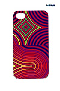 Lorem Back Cover For Apple iPhone 4/4S -Multicolor-L13910