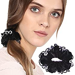 PANACHE Hair Rubber Band, Black Bobbles with Crystals, Long Lasting Elastic Band, Accessories Collection for Women, Beauty, Hair Care & Styling, Hair Styling Tools, Styling Accessories, Style 92.