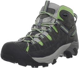 KEEN Women\'s Targhee II Mid WP Hiking Boot,Gargoyle/Jade Green,6 M US