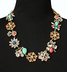 Colorful Crystal Beautiful Necklace - Great Quality