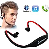 PANASONIC ELUGA SWITCH COMPATIBLE BS19 Wireless Bluetooth On-ear Sports Headset Headphones (with Micro Sd Card...