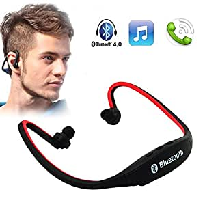 ESTAR Wireless Bluetooth On-ear Sports Headset Headphones (with Micro Sd Card Slot and FM Radio) Intex Aqua Speed - RED