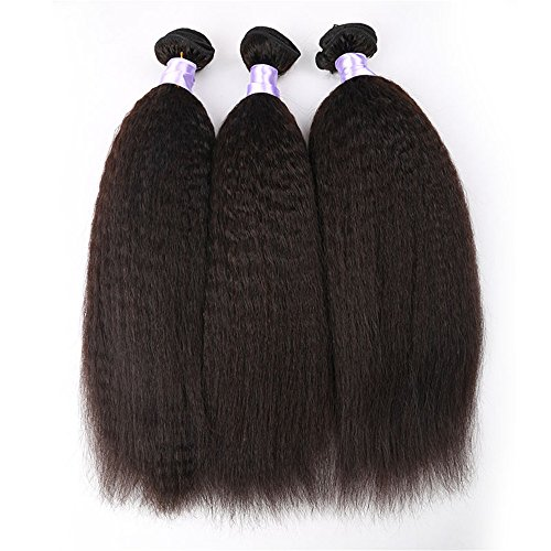 Angelbabyhair-7A-Grade-Virgin-Brazilian-Afro-Kinky-Straight-Hair-3Pcs-Lot-Italian-Coarse-Yaki-Hair-Bundles-Natural-black