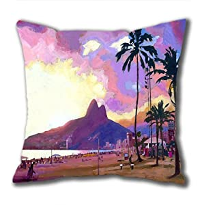 Illustration Painting Pulling For Silverton Standard Size Design Square Pillowcase/Cotton Pillowcase with Invisible Zipper in 40*40CM 16*16(527)-527121 by Square Pillowcase