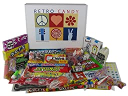 Retro Candy Gift Basket Box Care Package Assortment