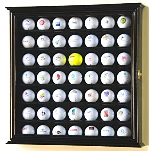 49 Golf Ball Display Case Cabinet Rack