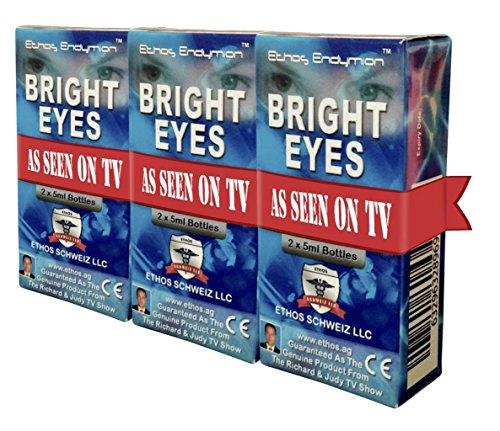 Ethos Bright Eyes™ Carnosine NAC Eye Drops - 3-Pack of 6 x 5ml Bottles - NAC Eye Drops (Safe for Cataracts Sufferers) - As Seen on UK National TV with Amazing Results! NAC n acetyl carnosine eye drops...