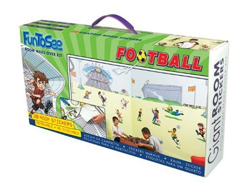 FunToSee Football Room Make-Over Kit 28 Wall Stickers