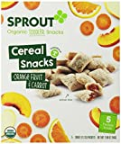Sprout Toddler Fruit and Veggie Cereal Snack, Orange Fruit and Carrot, 1.98 Ounce
