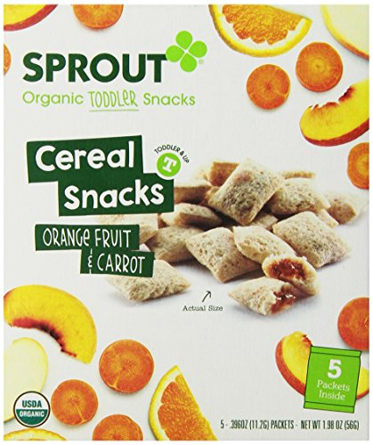 Sprout Toddler Fruit and Veggie Cereal Snack, Orange Fruit and Carrot, 1.98 Ounce - 1