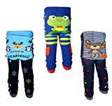 [backbuy] 3pantalones infantil niños de bebé 0-24meses Leggings pantalones punto pantalones i3i4V4 azul azul Talla:12-18 meses