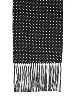 Black With White Polka Dot Silk Scarf picture