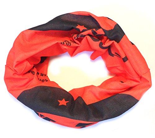 PRESKIN - panno multifunzionale usato come un foulard, sciarpa al collo, sottocasco, fascia, scalda polso, cappello, bandana, sciarpa, loop, guaina del collo, sciarpa pirata, gonna o alla cintura sulla testa, al collo o al braccio (129MultiLoopChe)