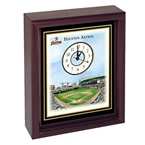 Houston Astros Minute Maid Park Stadium Colorprint Desk Clock by Unknown