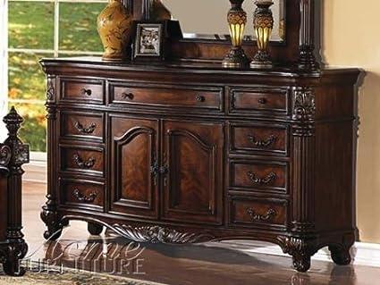 ACME 20275 Remington Dresser, Brown Cherry Finish