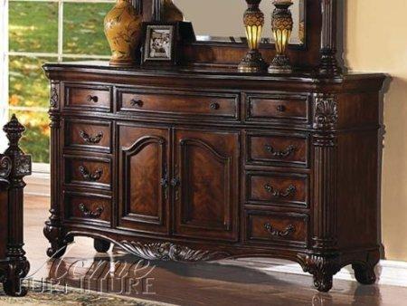 Acme 20275 Remington Dresser, Brown Cherry Finish front-1012132