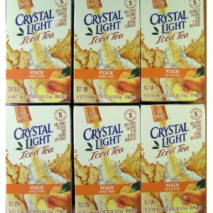 Crystal Light On The Go Peach Tea, 14 Count Boxes (Pack of 6)
