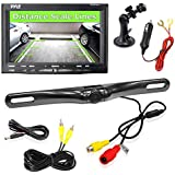 Pyle PLCM7500 Car Vehicle Backup Camera & Monitor Parking Assistance System, Waterproof, Night Vision, 7'' Display, Distance Scale Lines, Swivel Adjustable Camera