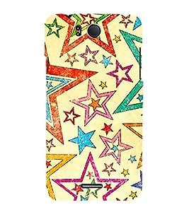 Stars Diamonds Christmas 3D Hard Polycarbonate Designer Back Case Cover for InFocus M530