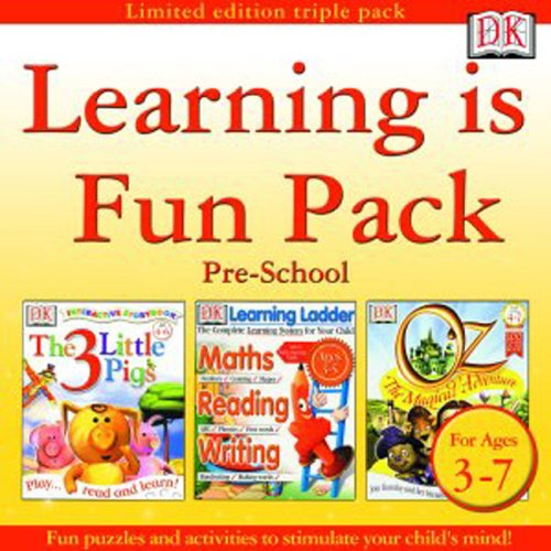 Learning is Fun Pack Pre-School (The 3 Little Pigs, Learning Ladder Ages 3-5, Oz - The Magical Adventure)