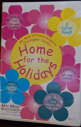 Home for the Holidays Christopher Smiths Computer Games for Kids, Holiday Crafts & Activities - CD-Rom & Cassette & Book