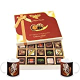 Chocholik Belgium Chocolates - Yummy Treat Of 20pc All Pralines Chocolate Box With Diwali Special Coffee Mugs...