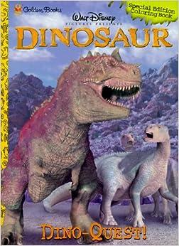 Dino Quest Coloring Book (Disney Dinosaur) Paperback – April, 2000