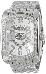 Marc Ecko Men's E12532G1 Mech Rhino Silver Stainless Steel Watch