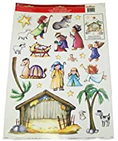 Christmas Reusable Window Clings ~ Build Your Own Nativity Scene (23 Clings, 1 Sheet) by Impact, INC.