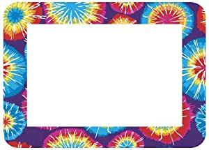 Fraimz by Fodeo Trendy Kidz 5 x 7 Inches Photo Area Peel and Stick Adhesive Picture Frame/Dry Erase Board Tie Dye