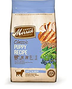 Merrick Puppy Classic Real Chicken, Brown Rice & Green Pea - 5 lbs