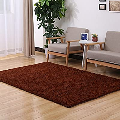 ONEONEY Home Decorator Modern Shag Area Rugs Super Soft Solid Living Room Carpet Bedroom Washable Rug and Carpets