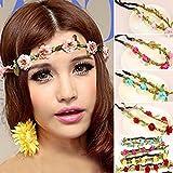 Hippie Love Flower Garland Crown Festival Wedding Hair Wreath BOHO Floral Headband