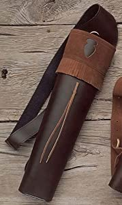 Neet Archery Traditions Back Quiver Color Brown Leather by Neet