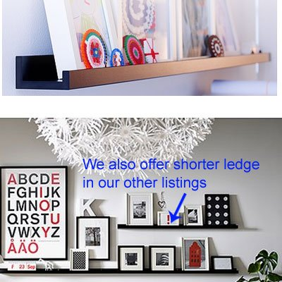 Ikea Ribba Black Floating Ledge for Photos, Pictures and Frames 45 1/4″ Long – Floating Shelves